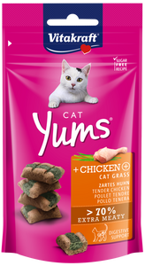 Vitakraft Cat Yums Chicken & Cat Grass 40g