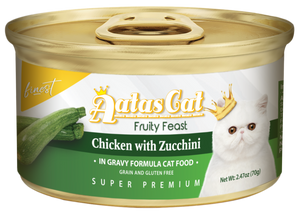 Aatas Cat Finest Fruity Feast Chicken with Zucchini in Gravy 70