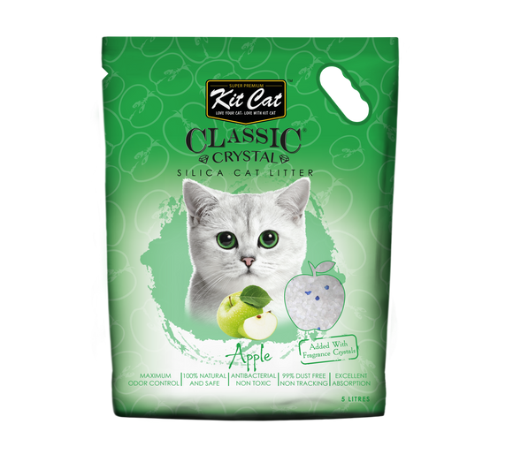 Kit Cat Classic Crystal Cat Litter Apple 5L