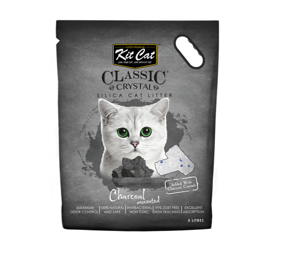 Kit Cat Classic Crystal Cat Litter Charcoal 5L