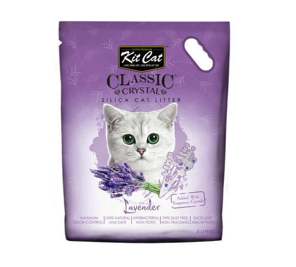 Kit Cat Classic Crystal Cat Litter Lavender 5L