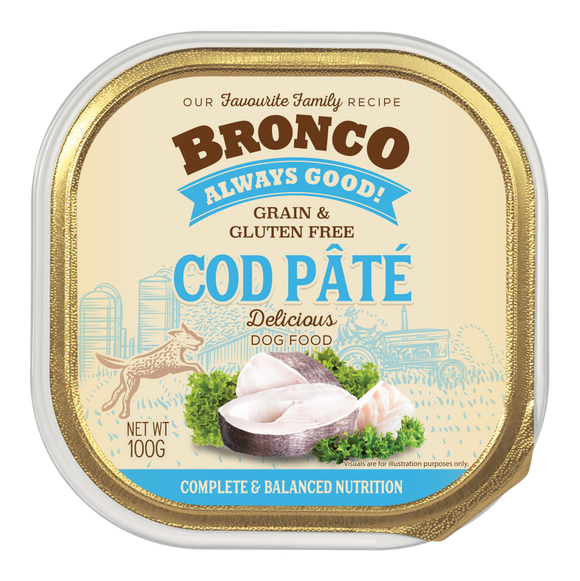 Bronco Cod Pate Tray 100g