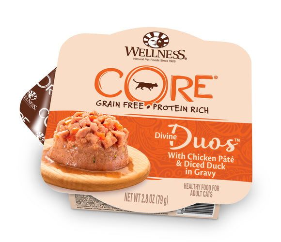 Wellness CORE Divine Duos - Chicken Pate & Diced Duck in Gravy 2.8oz  Duplicate  Preview  More actions