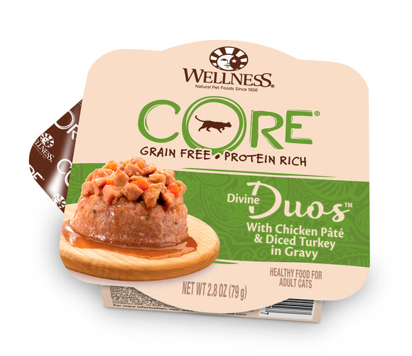 Wellness CORE Divine Duos - Chicken Pate & Diced Turkey 2.8oz