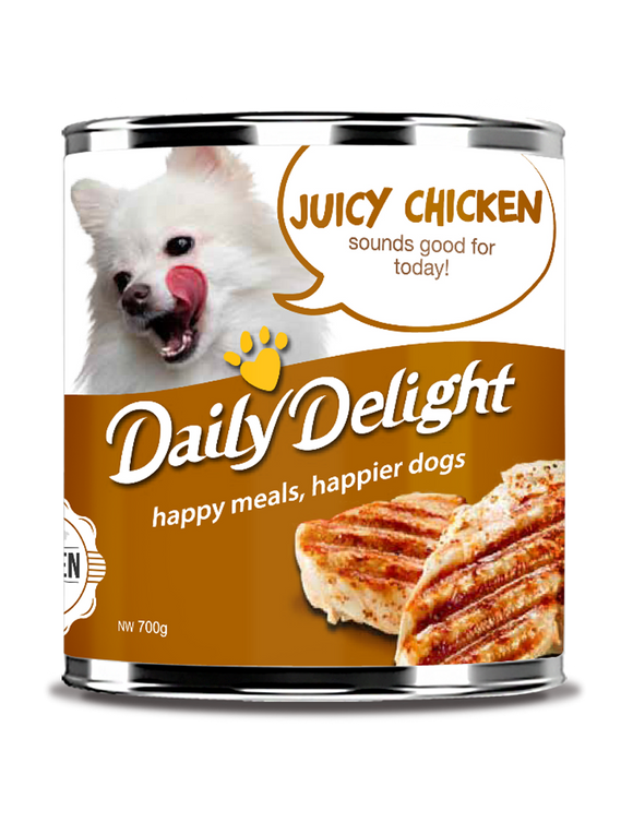 DAILY DELIGHT JUICY CHICKEN DOG FOOD
