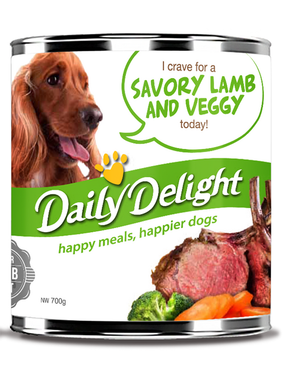 DAILY DELIGHT SAVORY LAMB AND VEGGY DOG FOOD