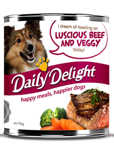 DAILY DELIGHT LUSCIOUS BEEF AND VEGGY DOG FOOD