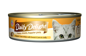 DAILY DELIGHT SKIPJACK TUNA WHITE WITH SWEET CORN IN JELLY