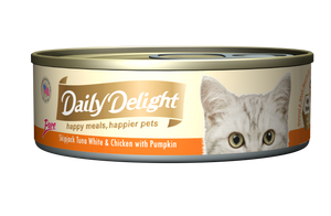 DAILY DELIGHT SKIPJACK TUNA WHITE & CHICKEN WITH PUMPKIN
