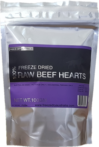 Freeze Dry Australia Diced Beef Hearts Cat & Dog Treats