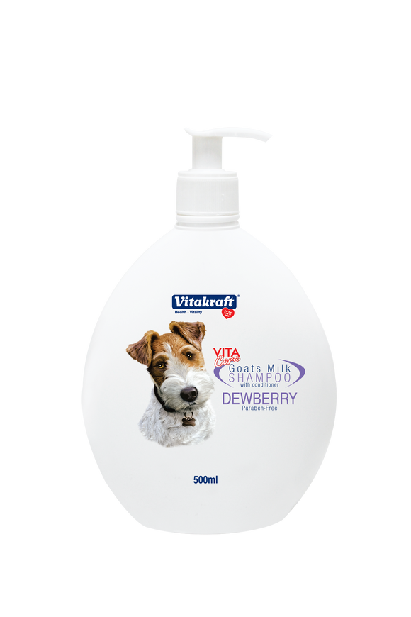 Vitakraft 2 in 1 Goat's Milk Shampoo Dewberry 500ml