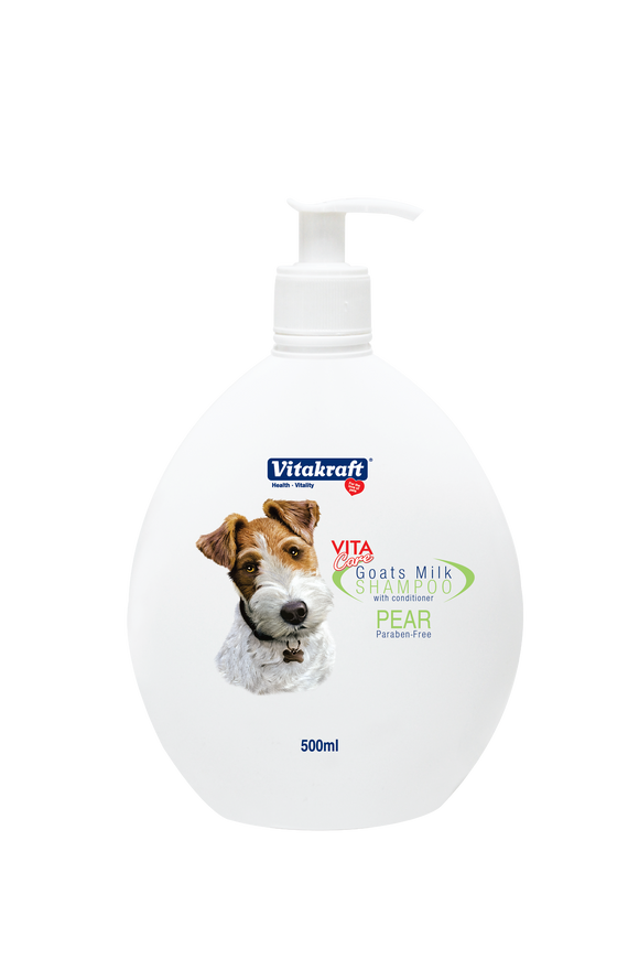Vitakraft 2 in 1 Goat's Milk Shampoo Pear