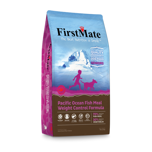 FirstMate Grain & Gluten Free Pacific Ocean Fish Formula - Senior/Weight Control (Normal Bites)