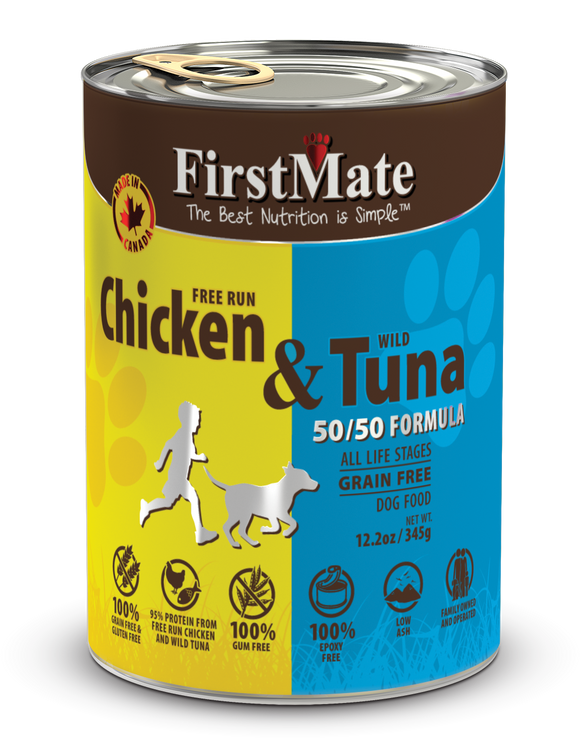 FirstMate Grain & Gluten Free, Free Run Chicken & Wild Tuna (50/50) Canned