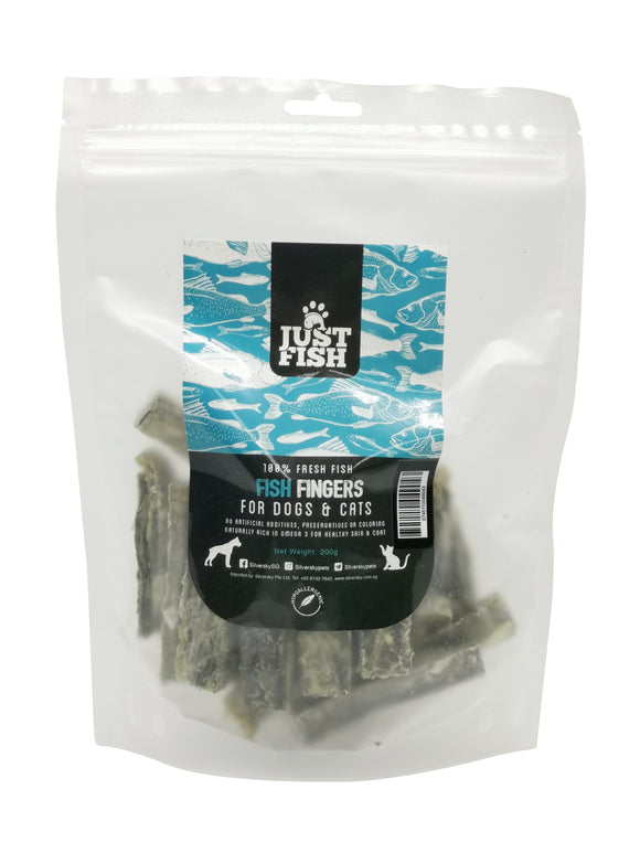 Just Fish Natural Treats for Cats & Dogs Fish Fingers