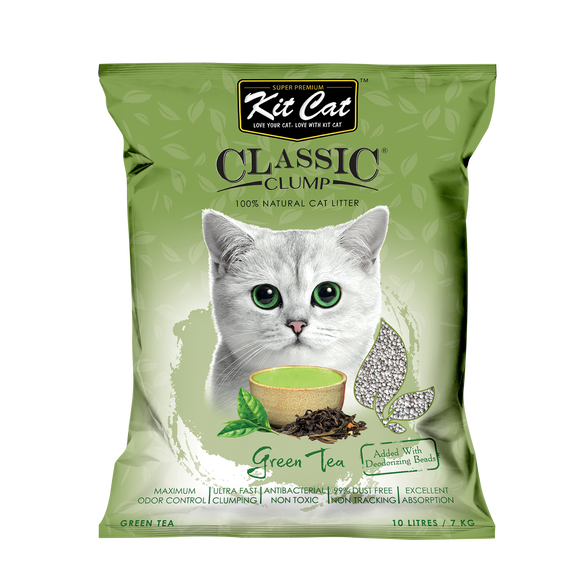Kit Cat Classic Clump Cat Litter Green Tea 10L/7kg