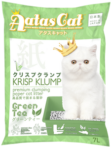 Aatas Cat Krisp Klump Paper Cat Litter Green Tea 7L