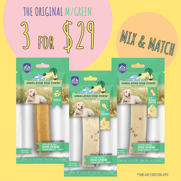 Himalayan The Original Cheese Dog Chew - Green (65g x 3 for $29)  Duplicate  Preview  More actions