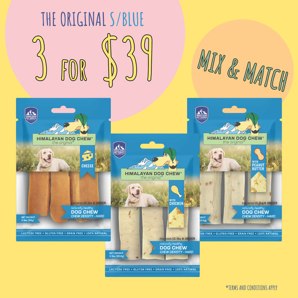 Himalayan The Original Cheese Dog Chew - Blue (93g x 3 for $39)