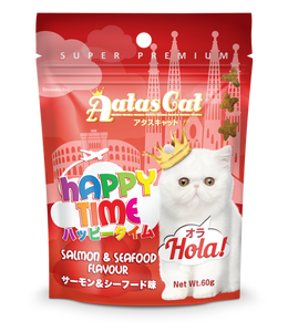 Aatas Cat Happy Time Hola Salmon & Seafood Flavour 60g