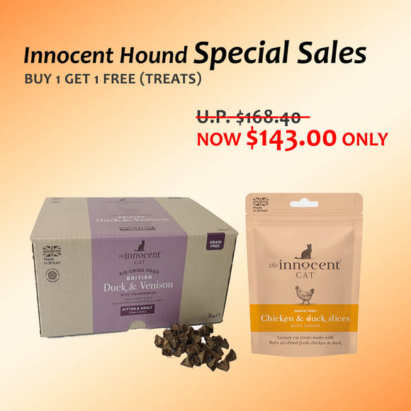 **Bundle Special** The Innocent Pet, Innocent Cat Food + Cat Treats