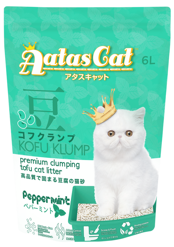 Aatas Cat Kofu Klump Tofu Cat Litter Peppermint 6L