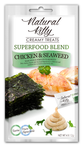 Natural Kitty Creamy Treats Superfood Blend - Chicken & Seaweed