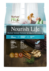 Nurture Pro Nourish Life Alaskan Salmon Formula for Indoor Kitten & Adult Cat