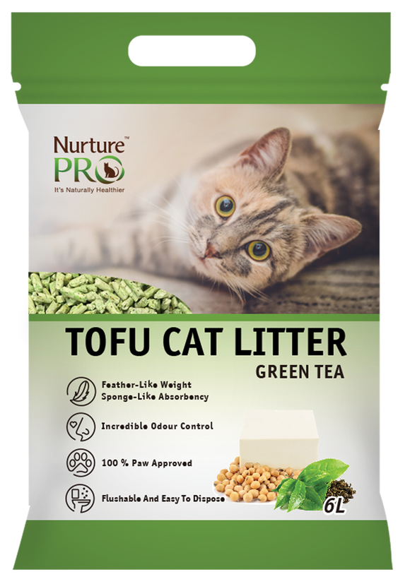 NURTURE PRO TOFU CAT LITTER GREEN TEA 6L