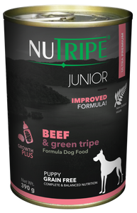 Nutripe Junior Beef & Green Tripe Dog 390g