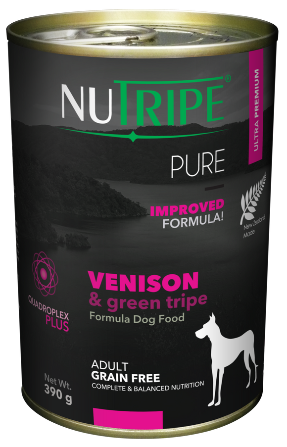 Nutripe Pure Venison & Green Tripe Dog 390g