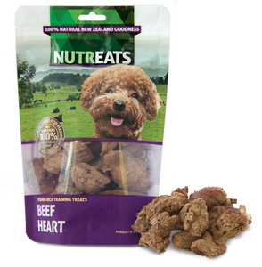 Nutreats Dog Treats-Beef Heart 50g