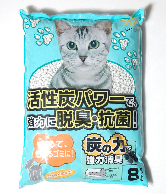 QQ Kit Recyclable Paper Cat Litter Charcoal 8L