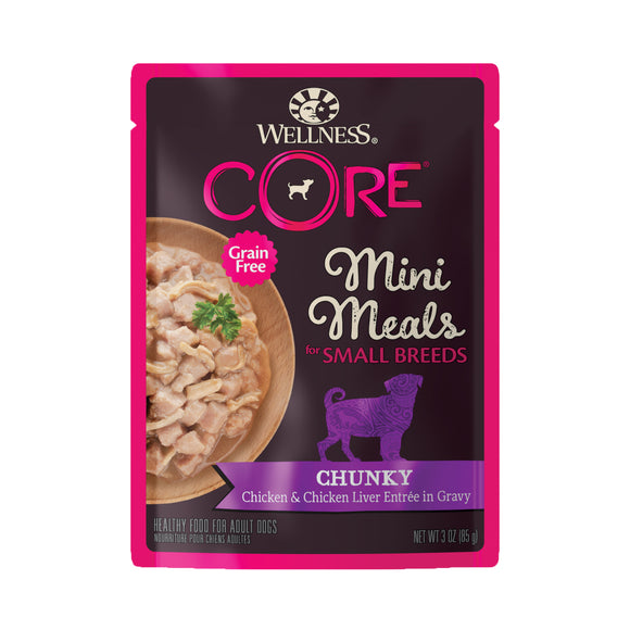 Wellness CORE Small Breed Mini Meals - Chunky Chicken & Chicken Liver 3oz