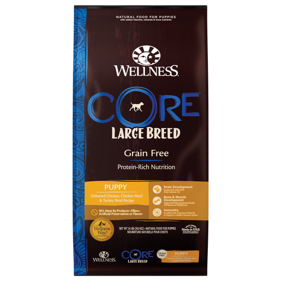 Wellness CORE Grain Free Large Breed Puppy (24LB)