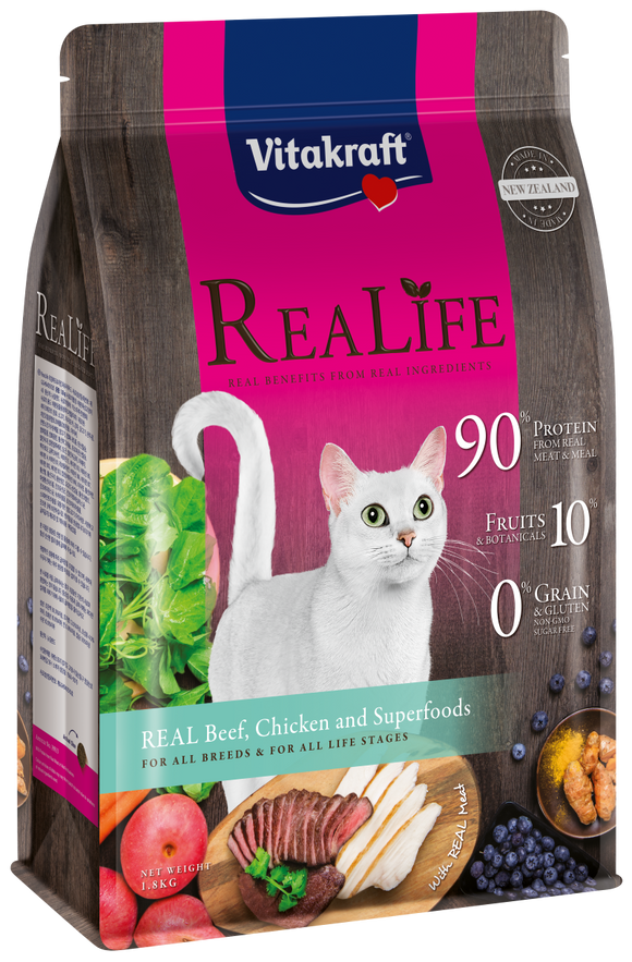Vitakraft ReaLife Real Beef, Chicken & Superfoods Cat 1.8kg