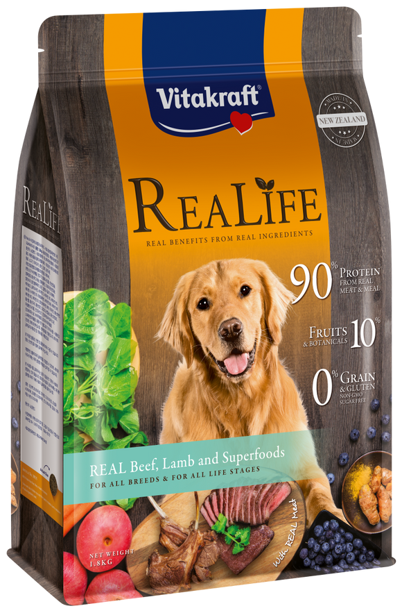 Vitakraft ReaLife Real Beef, Lamb & Superfoods Dog 1.8kg