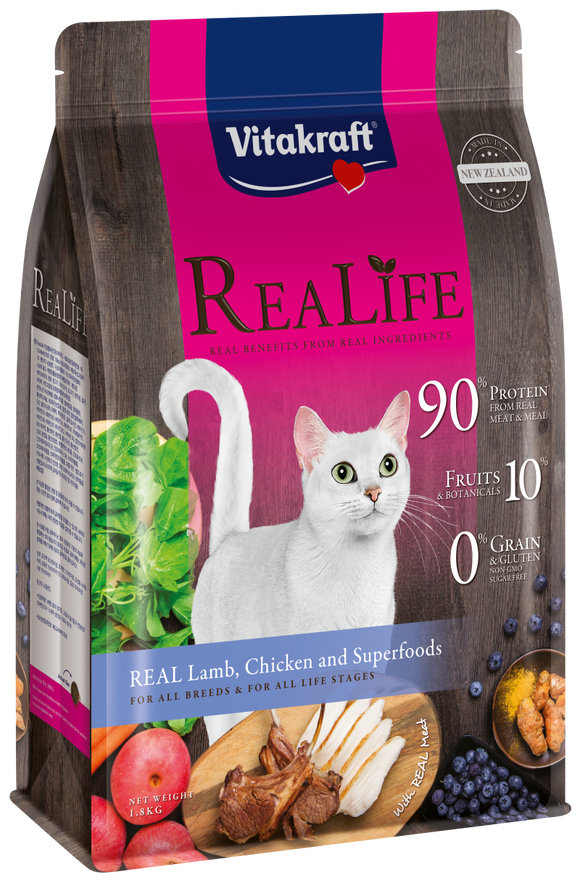 Vitakraft ReaLife Real Lamb, Chicken & Superfoods Cat 1.8kg