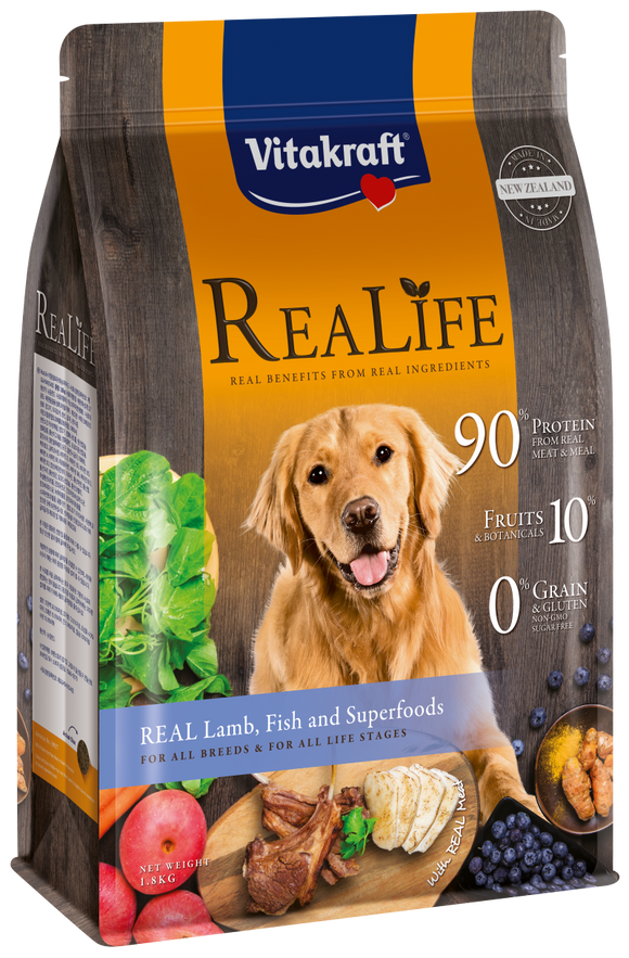 Vitakraft ReaLife Real Lamb, Fish & Superfoods Dog 1.8kg