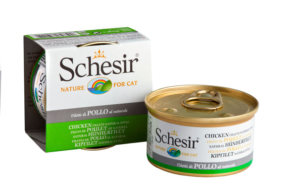 Schesir Cat Can in Water Chicken Fillet Natural Style