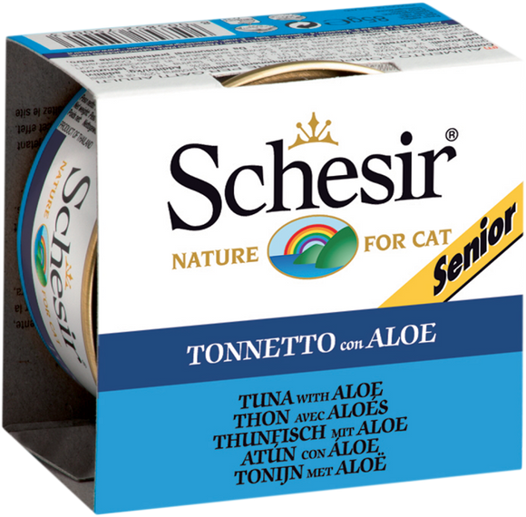 Schesir Cat Can in Jelly Senior Tuna with Aloe