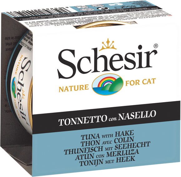 Schesir Cat Can in Jelly Tuna with Hake