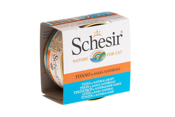 Schesir Cat Can in Natural Gravy Tuna