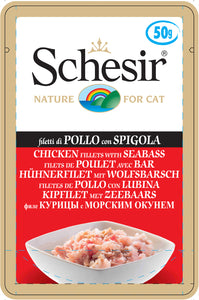 Schesir Cat Pouches Chicken Fillets with Seabass