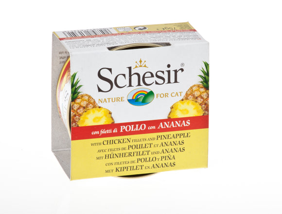 Schesir Cat Can with Fruits Chicken & Pineapple