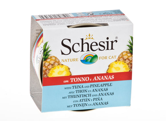Schesir Cat Can with Fruits Tuna & Pineapple