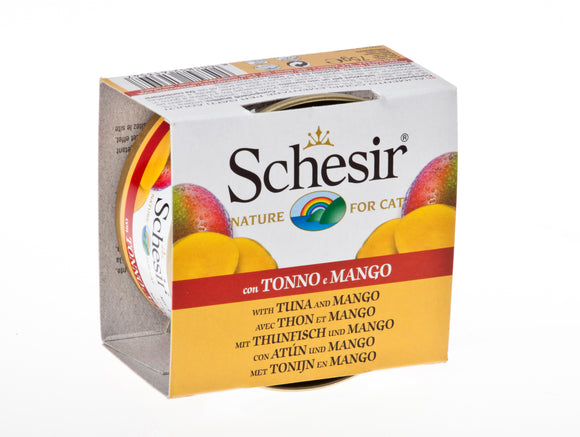 Schesir Cat Can with Fruits Tuna & Mango