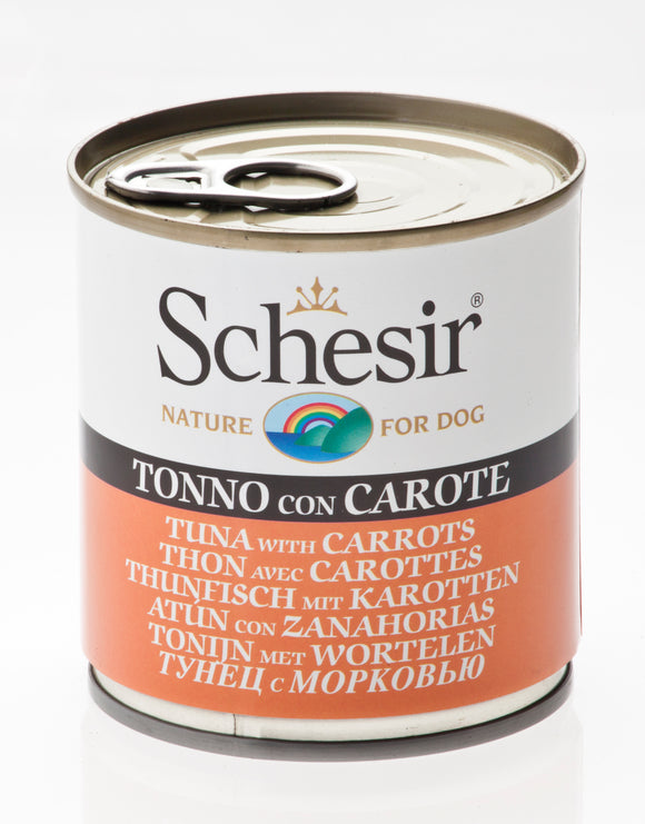 Schesir Dog Can Tuna with Carrots