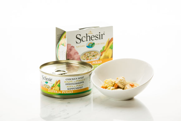 Schesir Dog Can in Soup Chicken Soup