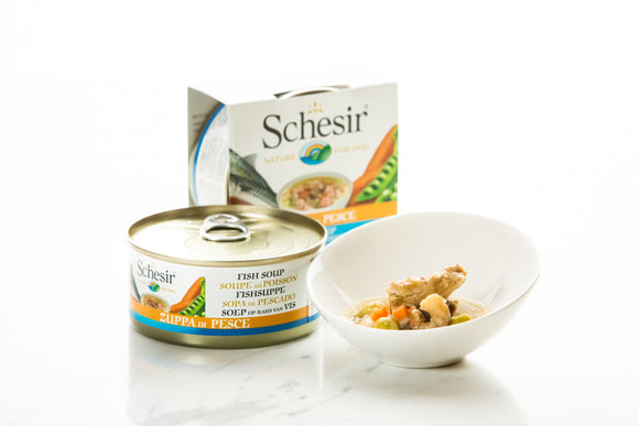 Schesir Dog Can in Soup Fish Soup